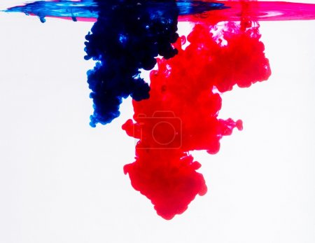 Blue and red acrylic colors