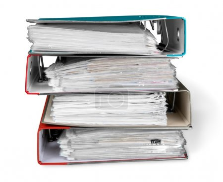 file folders with documents