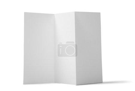 blank folded leaflet paper
