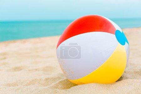 beach ball in the sand