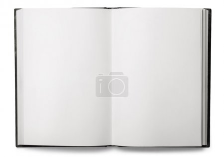 Photo for Open blank notebook on a white background - Royalty Free Image