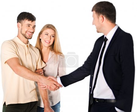 happy couple with Seller