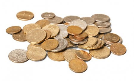Golden  coins  on a background