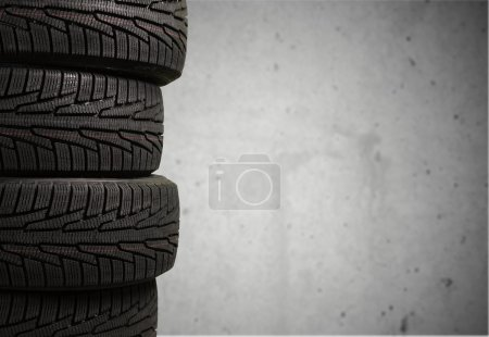 Photo for Tires objects isolated on  background - Royalty Free Image