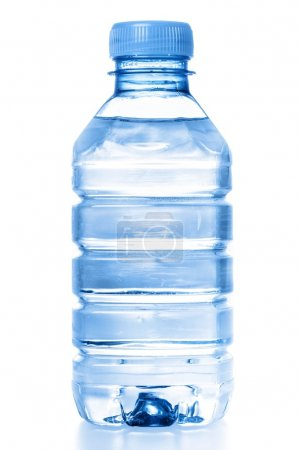 Bottle of water on white