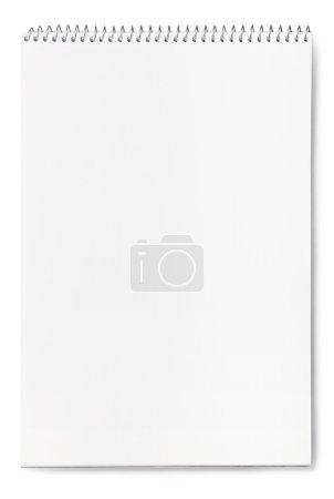 Photo pour Carnet vierge sur fond blanc - image libre de droit