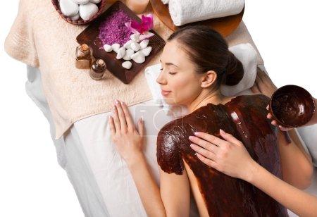 Young woman  at salon spa