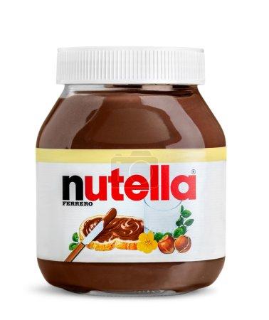 Nutella hazelnut spread jar
