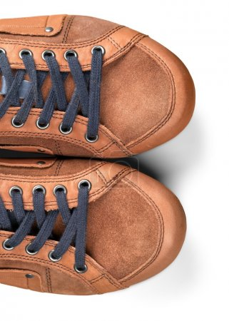 male brown  sneakers