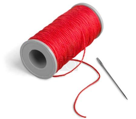 Bobbin of thread on  background