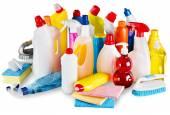 Kunststoff-Flaschen und Reinigung Schwämme