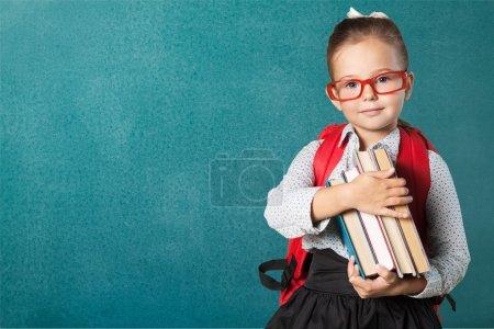 Cute little schoolgirl