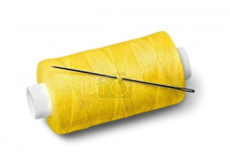 Bobbin of thread on  background