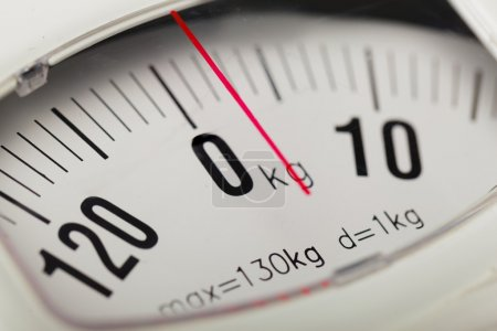 Analog weight scale  close up...
