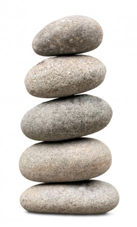 Photo pour Pierres de basalte Zen sur fond - image libre de droit