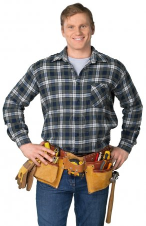 Male worker with tool belt