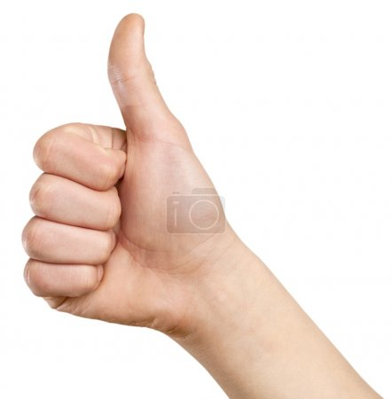 Hand make thumbs up isolated