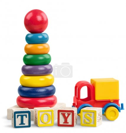 toys collection isolated