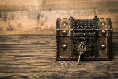old casket  and key