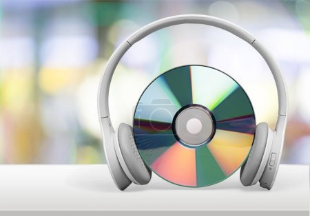 headphones and  compact disc