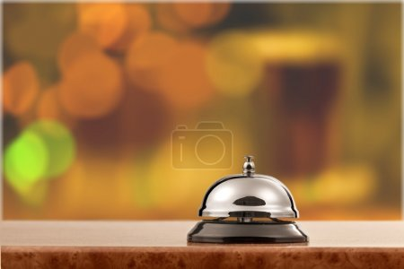 hotel reception service desk bell