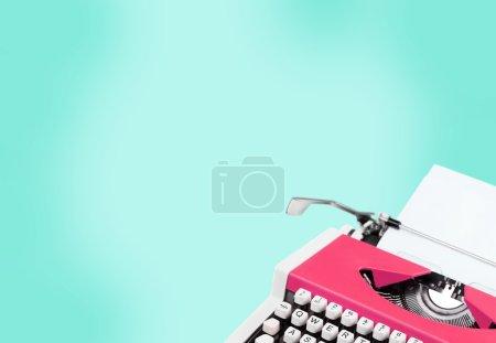 Retro  typewriter and paper