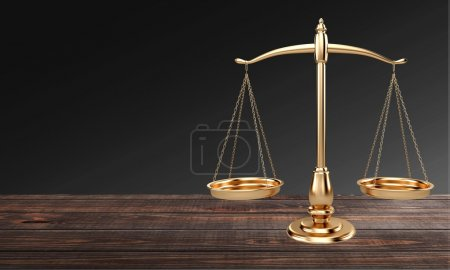 Law scales on table