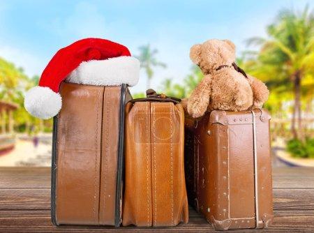 Retro large suitcases