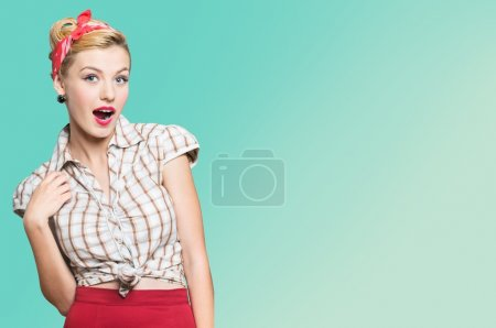 woman with pin-up make-up