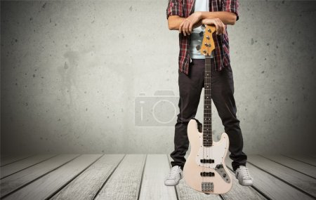 Man standing with guitar