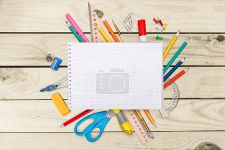 Photo pour Bureau, école, arrière-plan . - image libre de droit