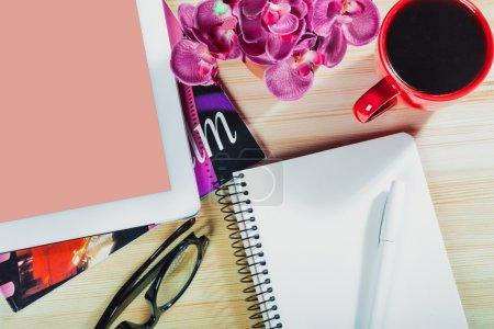 Photo for Desk, fashion, studying. - Royalty Free Image