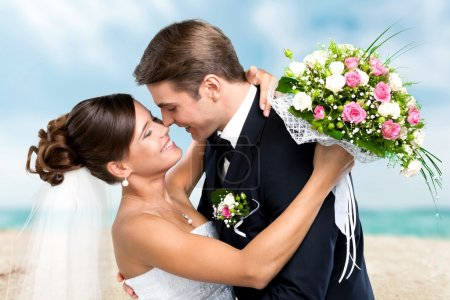 Photo pour Mariage, Couple, Couple hétérosexuel . - image libre de droit