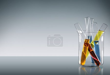 Photo for Test Tube, Scientific Experiment, Beaker. - Royalty Free Image