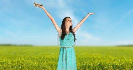 Foto de Mujer, alegre, felicidad. - Imagen libre de derechos