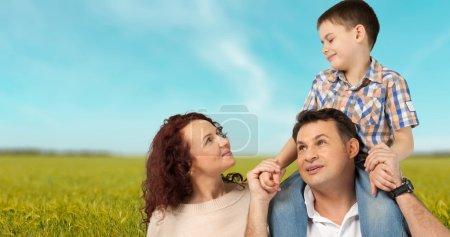 Foto de Familia, alegre, felicidad. - Imagen libre de derechos