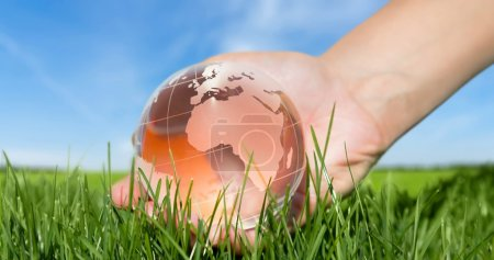 Globe, Human Hand, Earth.