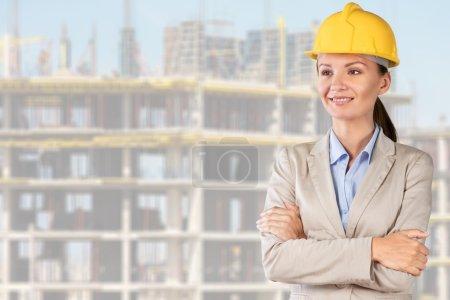 Photo pour Architecte, ingénieur, femme . - image libre de droit