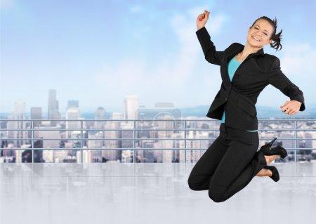 Jumping, Women, Business.