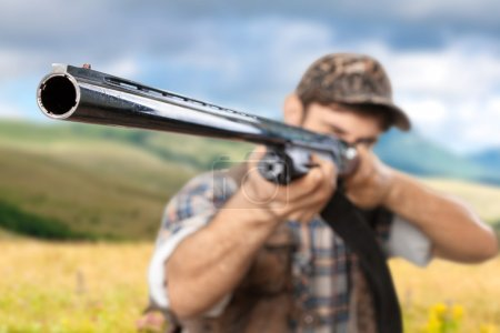 Photo for Hunter, Hunting, Rifle. - Royalty Free Image