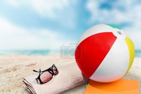 Summer, Beach Ball, Sunglasses.