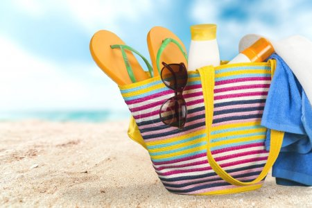 Photo for Beach, Summer, Bag. - Royalty Free Image