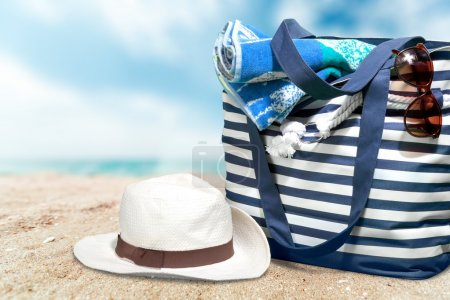 Beach, Bag, Group of Objects.