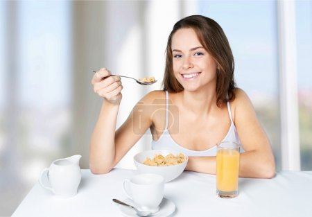 Photo for Healthy Eating, Breakfast, Women. - Royalty Free Image