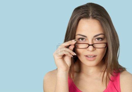Glasses, Human Eye, Women.