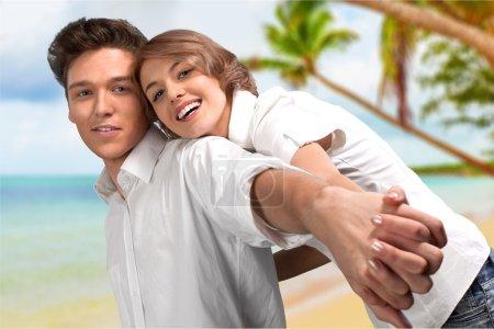 Couple, Summer, Beach.