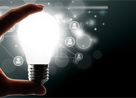 Photo for Marketing, Light Bulb, Creativity. - Royalty Free Image