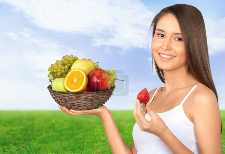 Fruits, femmes, mode de vie sain