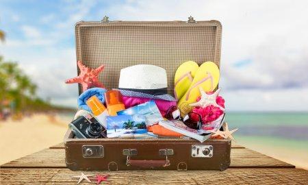 Summer, packed, bag.