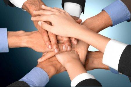 Photo for Human Hand, Teamwork, Business. - Royalty Free Image